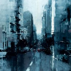"""San Francisco #7"" by Jeremy Mann. Oil on Panel 48 x 48 inches. 2014 More art here."