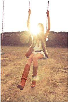 Swing and sunlight. Perfection.