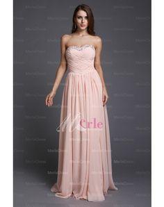 Sweetheart Sleeveless A-Line Beading Floor-Length Chiffon Prom Dresses