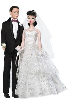 Our favorite wedding-day Barbies: The original Wedding Day Barbie Doll and Ken Set (1959)