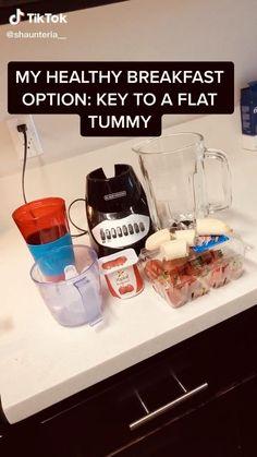 Healthy Breakfast Options, Healthy Breakfast Smoothies, Easy Smoothies, Healthy Drinks, Healthy Recipes, Fruit Smoothie Recipes, Easy Snacks, Flat Tummy Drink, Flat Tummy Foods