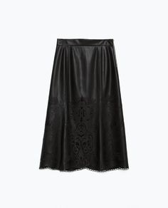 Image 6 of FAUX LEATHER SKIRT from Zara