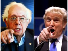 image of bernie sanders and donald trump - Google Search