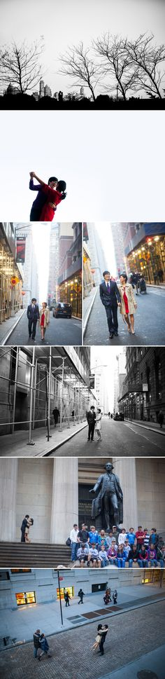 JANE AND DAEKYUNG: WALL STREET ENGAGEMENT SESSION | Bōm Photography - New York New Jersey Wedding Photographer | 뉴욕 뉴저지 웨딩 사진 전문