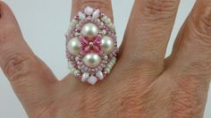 Beading4perfectionists: Valentine's biker-chick ring by b4pbakup