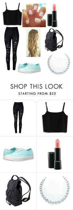 """""""school outfit"""" by daniellem618 on Polyvore featuring Chicwish, Vans and MAC Cosmetics"""