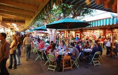 LA Farmers Market at the Grove. There is a trolley kids can ride and a Barnes and Noble with an incredibly kid friendly area. The movie theatre there also offers mommy and me movies so you can see features with you baby.