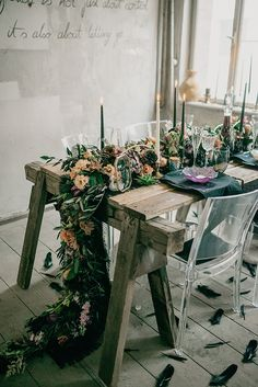 Moody tablescape wit