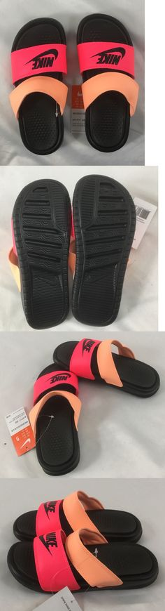 9567e1d70a9ac1 Sandals and Flip Flops 62107  Nike Women S Sandals Benassi Duo Ultra Slide  Black Pink Peach Size 9 -  BUY IT NOW ONLY   34.99 on eBay!