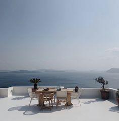 Oia Greece, Dining Table, Patio, Outdoor Decor, Furniture, Home Decor, Decoration Home, Room Decor, Dinner Table