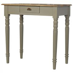 One Drawer Writing Desk with Flute Legs