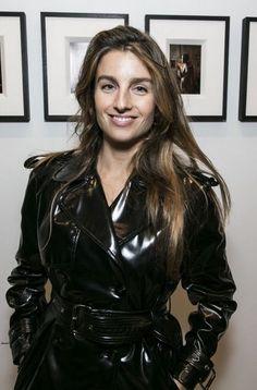 Black trench coat raincoat