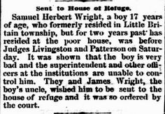 Genealogical Gems: On This Day: Teen sent to House of Refuge