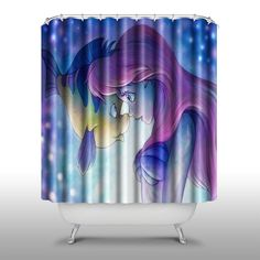 The Little Mermaid Shower Curtain Handmade Home U0026 Living Bathroom,70 Inch  By 70