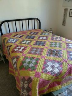 Unusually Large Antique Quilt ca.1870-90 **Near Perfect Condition**