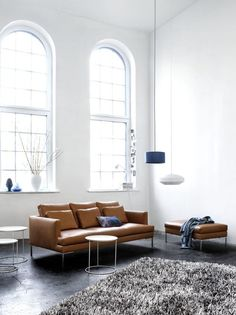 LOVE this BoConcept sofa couch - modern lines, metal legs, carmel colored leather