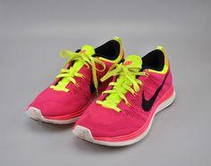 0224b46faa794 Nike Womens Flyknit One Lunar1 Shoes Size 9.5 Pink Black Fireberry 554888  606