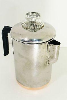Pre-1968 Revere Ware 8 Cup Coffee Pot