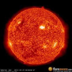 The hourly sun (at 06:59 am  UTC on 21 April 2013)