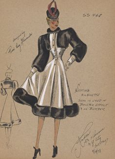Fashion Drawings - André Studios 1930-1941