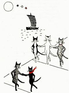 Jenny Linsky and friends. from the Jenny and the Cat Club books by Esther Averill. Crazy Cat Lady, Crazy Cats, Book Illustration, Cat Illustrations, Funny Cat Pictures, Cat Design, I Love Cats, Cat Art, Cats And Kittens