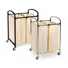 Seville Classics Chrome 2-bag Laundry Sorter - 18806741 - Overstock.com Shopping - Great Deals on Seville Classics Hampers