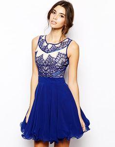 Chi Chi London Prom Dress with Eyelash Detail