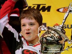 Josh in Motorcross Kids...such a cutie!! and now we know where his motorbikes fascination starts