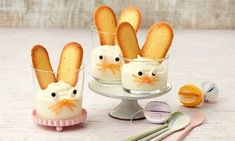 Easter Mousse Recipes: Quick, simple dessert with a sweet decoration for Easter - One of delicious, fail-safe recipes from Dr. Mousse Dessert, Easy Easter Desserts, Easter Recipes, Easter Treats, Easter Cheesecake, Desserts Ostern, Chocolate Mousse Recipe, Healthy Dessert Recipes, Mango