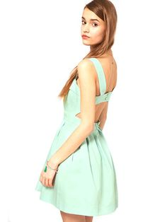ASOS Skater Dress with Cut Out Back, $86    Read More http://www.teenvogue.com/style/prom-fashion-2012/100-guide/2012/02/pastel-dresses#ixzz1n3anGzZy