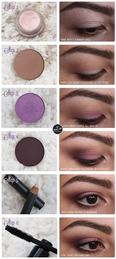 mac sketch parfait amour smokey eye makeup tutorial look http://www.thebeautymilk.com/2014/03/romantic-and-soft-purple-smokey-eyes.html