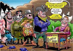 Ukip, Farage, Cartoon, Blazing Saddles, Xenophobia