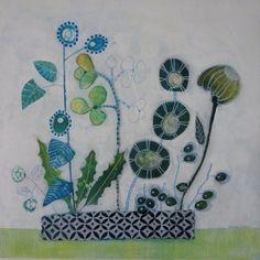 Greenery - Sandrine Pelissier, Watercolor and mixed media paintings http://www.watercolorpainting.ca/flowers.html