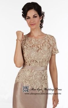 Vestido De Festa Curto Sheath Lace Short Sleeves Mother Of The Bride Dresses Short Mother Of The Bride Pant Suits 2015 MH Mom Dress, Lace Dress, Mothers Dresses, Bride Dresses, Short Dresses, Formal Dresses, Mother Of The Bride, Dress Patterns, Lace Shorts