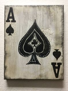 Ace of Spades Art Deck Playing Cards Painting by TrueAcrylics