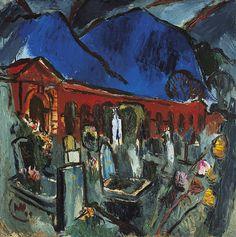 Mariahilf Cemetery, 1949 - Max Weiler (1910–2001) oil on canvas