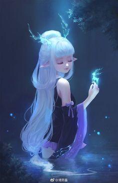 Like Drawing Image Fantasy of forms the Face Book Manga Kawaii, Kawaii Anime Girl, Anime Art Girl, Fantasy Girl, Anime Fantasy, Cartoon Kunst, Cartoon Art, Anime Girl Drawings, Cute Drawings