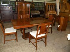 Rockford 1930s Art Deco Antique Dining Room Buffet Server