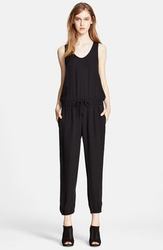 Theory 'Lortan W.' Silk Jumpsuit available at #Nordstrom