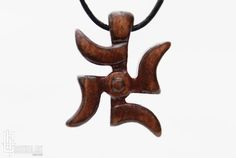 Swastika Necklace  Buddhist Jewelry  Lucky Pendant  by CristherArt