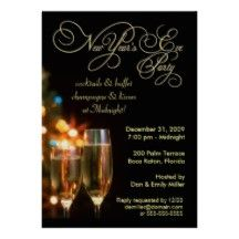 New Year's Eve Party Invitations - 5 x 7