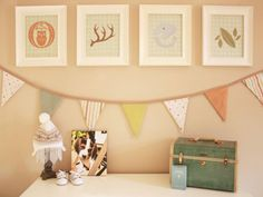 You don't have to be a super-DIYer but it certainly pays off to start thinking handmade even if it's just for the smallest of details. Crafting a bit of decorative bunting or printing your own graphics for framing is a great way to catch the do-it-yourself fever. Photo courtesy of ProjectNursery.com
