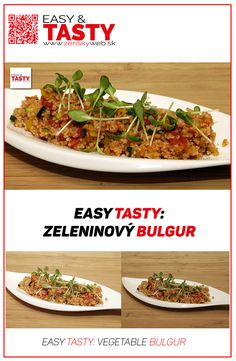 If you are trying to eat healthy and you are interested in healthy food, you have probably heard about bulgur. We have decided to introduce you one simple recipe using this super-food.  video recipe: https://www.youtube.com/watch?v=RXWtTDlAdCI Web site: http://www.zenskyweb.sk Facebook: https://www.facebook.com/easytastysk/ Youtube channel: https://www.youtube.com/channel/UCA1av29Uc9pJFzCFnMuxr7A?sub_confirmation=1