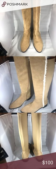 0b277dc8f78 New G.I.L.I. Shearling   Suede Tall Shaft Boots 👢 Stunning Camel Color  Suede   Shearling full