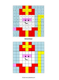 Picture Logic, 100 Chart, Catholic Crafts, Saint Nicolas, Theme Noel, Catholic Saints, Pixel Art, Crafts For Kids, Teaching