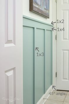 DIY Board and Batten Tutorial with board sizes! Bathroom Decor DIY Board and Batten in the Girls' Bathroom Home Design, Design Ideas, Interior Design, Home Improvement Projects, Home Projects, Young House Love, Board And Batten, My New Room, Home Renovation