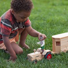 The BEST wooden toy trucks at Nova Natural.