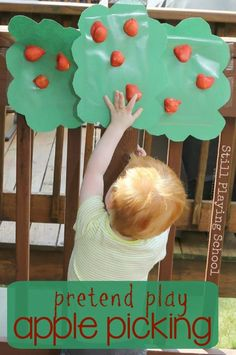 Toddler Sensory Play for Toddlers and Older Siblings - Apple Picking Lemon Lime Adventures Fall Preschool, Toddler Preschool, Toddler Fun, Preschool Activities, Preschool Apples, September Preschool, Kids Fun, Infant Toddler, Apple Activities