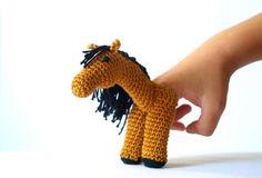 (4) Name: 'Crocheting : Crochet Horse Finger Puppet