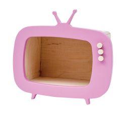 Mini Tv, Activity Room, Ipad Stand, Pink Kids, Playroom Decor, Toy Storage, Kids Furniture, Retro, Wooden Toys